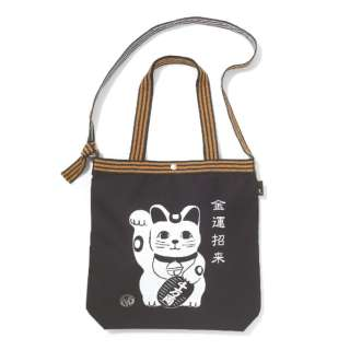 タテ型 トートバッグ ROOTOTE TALL.マエカケ-A(招き猫/W31~35×H38×マチ9.5cm・持ち手長さ26cm)250805