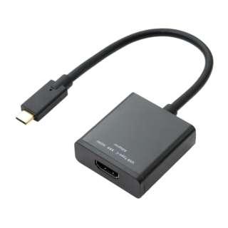 4K対応 USB Type-C - HDMI 変換アダプタ USA-CHD1/BK ブラック