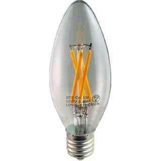 LDC3L-E17/C/22/N LED電球 DECOLIGHTLEDFilamentBASICCandole(デコライトLED・フィラメントベーシックキャンドル) クリア [E17 /電球色 /1個 /シャンデリア電球形 /全方向タイプ]