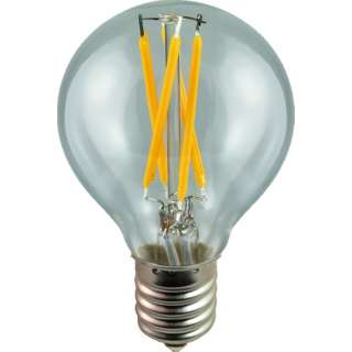 LDG3L-E17/C/24/45/N LED電球 ミニボール電球形 DECO LIGHT LED Filament BASIC(デコライトLED・フィラメントベーシック) クリア [E17 /電球色 /1個 /ボール電球形 /全方向タイプ]