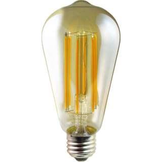 LDS6L/A2/D LED電球 電球形 DECO LIGHT LED Filament ANTIQUE(デコライトLED・フィラメントアンティーク) 瑠璃色 [E26 /電球色 /1個 /全方向タイプ]