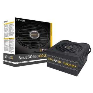 550W PC電源 80PLUS GOLD認証取得 高効率高耐久電源ユニット NeoECO GOLD NE550 GOLD [ATX /Gold]