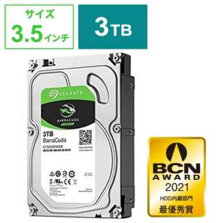 ST3000DM007 内蔵HDD BarraCuda [3.5インチ /3TB] 【バルク品】