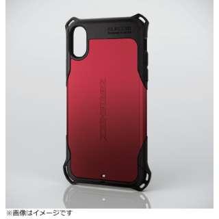 iPhoneX用 ZEROSHOCK スタンダードケース HKA17XZERORD レッド