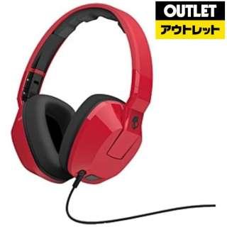【アウトレット品】 ヘッドホン Red CRUSHER [リモコン・マイク対応 /φ3.5mm ミニプラグ] 【外装不良品】