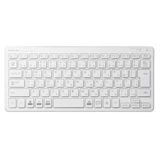 キーボード 超薄型ミニ ホワイト TK-FBP100WH [Bluetooth /ワイヤレス]