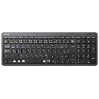 TK-FBP101BK キーボード 超薄型コンパクト ブラック [Bluetooth /ワイヤレス]