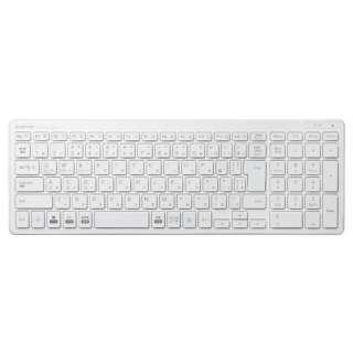 TK-FBP101WH キーボード 超薄型コンパクト ホワイト [Bluetooth /ワイヤレス]