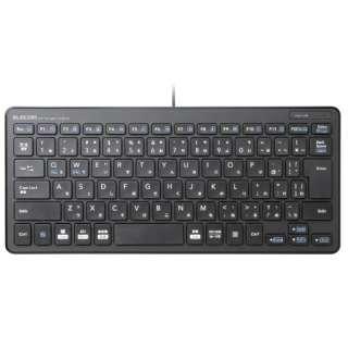 キーボード ミニ ブラック TK-FCP096BK [USB /有線]