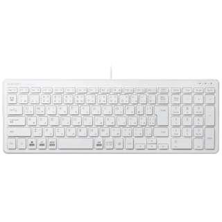 TK-FCP097WH キーボード 超薄型コンパクト ホワイト [USB /有線]