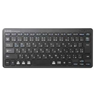 キーボード 超薄型ミニ ブラック TK-FDP098TBK [USB /ワイヤレス]