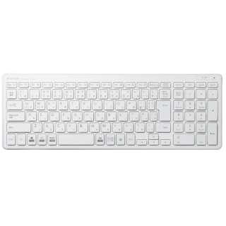 TK-FDP099TWH キーボード 超薄型コンパクト ホワイト [USB /ワイヤレス]