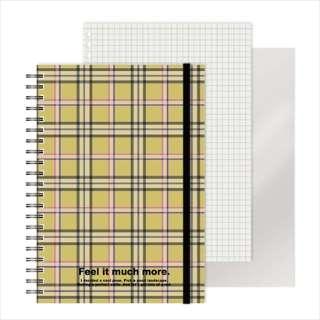 [ノート]レフ板のついたリングノート(5mmグリッド罫方眼・A5・50枚・レフ版2枚)チェック 220416-73