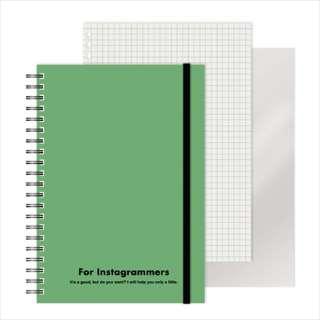 [ノート]レフ板のついたリングノートカラード(5mmグリッド罫方眼・A5・50枚・レフ版2枚)グリーン 220417-10