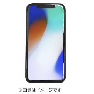 iPhoneX用背面シンプルケースブルー