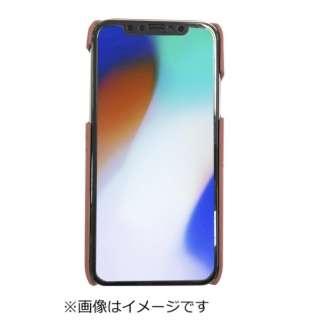 iPhoneX専用背面本革ケースレッド