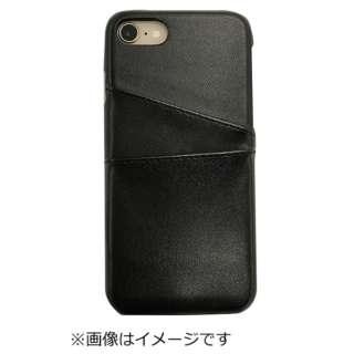 iPhone8専用背面本革ケースブラック