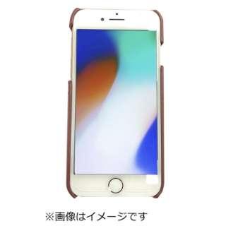 iPhone8専用背面本革ケースレッド