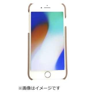 iPhone8専用背面本革ケースブラウン