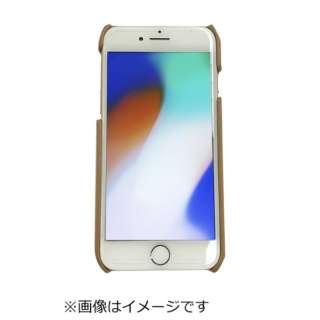 iPhone8専用背面本革ケースライトブラウン