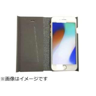 iPhone8専用 手帳型 ラウンドブックケースグレイ