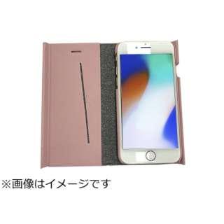 iPhone8専用 手帳型 ラウンドブックケースピンク