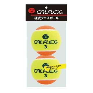 一般用硬式テニスボール 2球入 LB-450YLOG イエロー×オレンジ