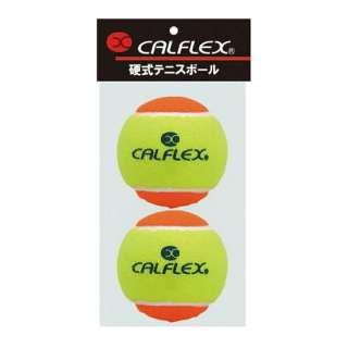 硬式テニスボール STAGE2 2球入 LB-2 イエロー×オレンジ