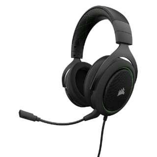 CA-9011171-AP ゲーミングヘッドセット グリーン [φ3.5mmミニプラグ /両耳 /ヘッドバンドタイプ]