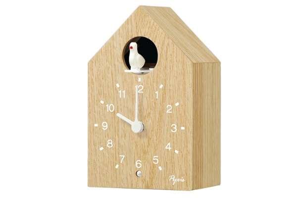 掛け時計のおすすめ21選 セイコー「PYXIS(ピクシス)かっこう時計」NA609A