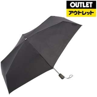 【アウトレット品】 【折りたたみ傘】タイタン自動55センチ ブラック 8661BLK 【数量限定品】