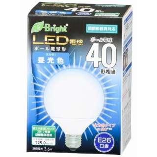 LDG4D-G AG22 LED電球 E-Bright ホワイト [E26 /昼光色 /1個 /40W相当 /ボール電球形 /全方向タイプ]