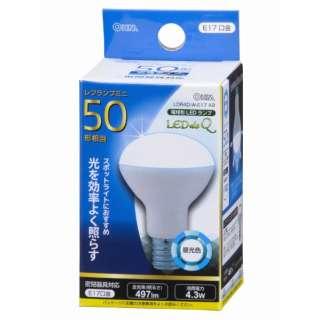LDR4D-W-E17 A9 LED電球 ミニレフ形 LEDdeQ ホワイト [E17 /昼光色 /1個 /50W相当 /レフランプ形]