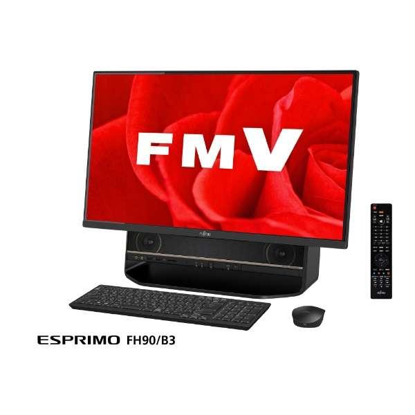 FMVF90B3B デスクトップパソコン FMV ESPRIMO オーシャンブラック [27型 /HDD:3TB /メモリ:8GB /2018年1月]