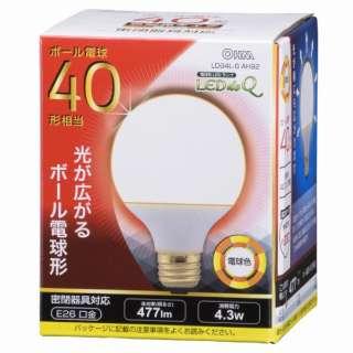 LDG4L-G AH92 LED電球 LEDdeQ ホワイト [E26 /電球色 /1個 /40W相当 /ボール電球形 /広配光タイプ]