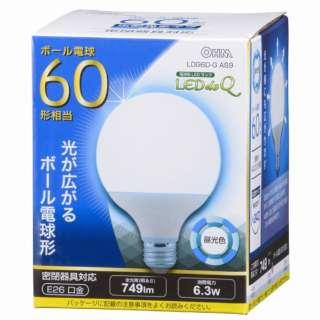 LDG6D-G AS9 LED電球 LEDdeQ ホワイト [E26 /昼光色 /1個 /60W相当 /ボール電球形 /広配光タイプ]
