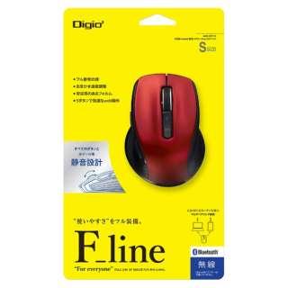 MUS-BKF143R マウス Digio2 F_lineシリーズ Sサイズ レッド [BlueLED /5ボタン /Bluetooth /無線(ワイヤレス)]