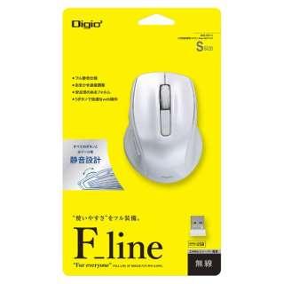 MUS-RKF141W マウス Digio2 F_lineシリーズ ホワイト [BlueLED /5ボタン /USB /無線(ワイヤレス)]