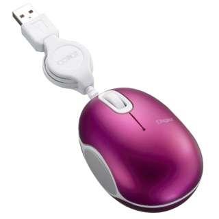 MUS-UKT152P マウス Digio2 COROT(コロット)小型 ピンク [BlueLED /3ボタン /USB /有線]