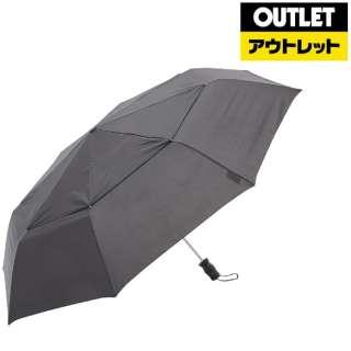 【アウトレット品】 【折りたたみ傘】VENTED 3セク自動 7523BLK 【数量限定品】