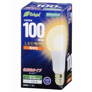 LDA12L-G AG22 LED電球 E-Bright ホワイト [E26 /電球色 /1個 /100W相当 /一般電球形 /全方向タイプ]
