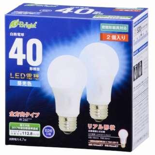 LDA5D-G AG22 2P LED電球 E-Bright ホワイト [E26 /昼光色 /2個 /40W相当 /一般電球形 /全方向タイプ]