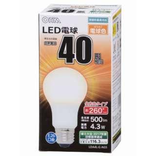 LDA4L-G AG5 LED電球 ホワイト [E26 /電球色 /1個 /40W相当 /一般電球形 /全方向タイプ]