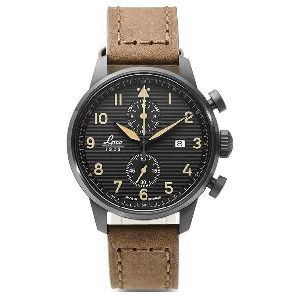 ラコ パイロットクロノグラフ時計 861978 Engadin