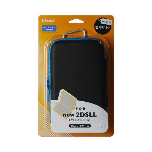 ニンテンドー2DS LLセミハードケース ブラック ブルー 【New2DS LL】