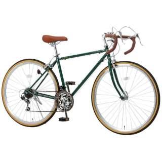 700x28C ロードバイク Raychell RD-7021R(アイビーグリーン/21段変速) 【組立商品につき返品不可】