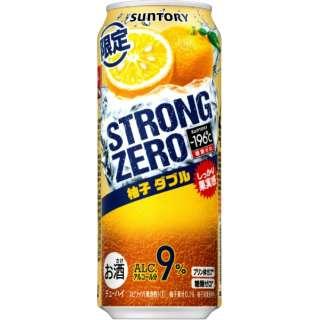 [数量限定] -196℃ ストロングゼロ 柚子ダブル (500ml/24本)【缶チューハイ】