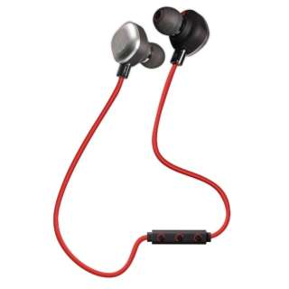 7788eef5d8d Bluetooth Earphone canal type red OWL-BTEP12RE [remote-control microphone- adaptive/wireless (neckband)/drip-proof/Bluetooth]