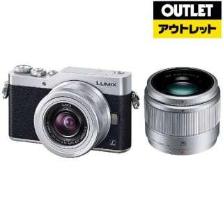 【アウトレット品】 DC-GF9W-S ミラーレス一眼カメラ LUMIX GF9 シルバー [ズームレンズ+単焦点レンズ] 【外装不良品】
