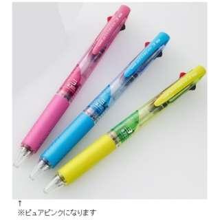 [3色 油性ボールペン] 限定 ジェットストリーム アクティブカラー(0.7mm /黒・赤・青) SXE3-400-07.67 ピュアピンク